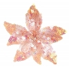 Motif Beaded with brooch Pin Flower Combo Pink